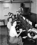 some operators working a switchboard