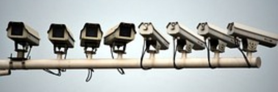 photo of an array of surveillance cameras